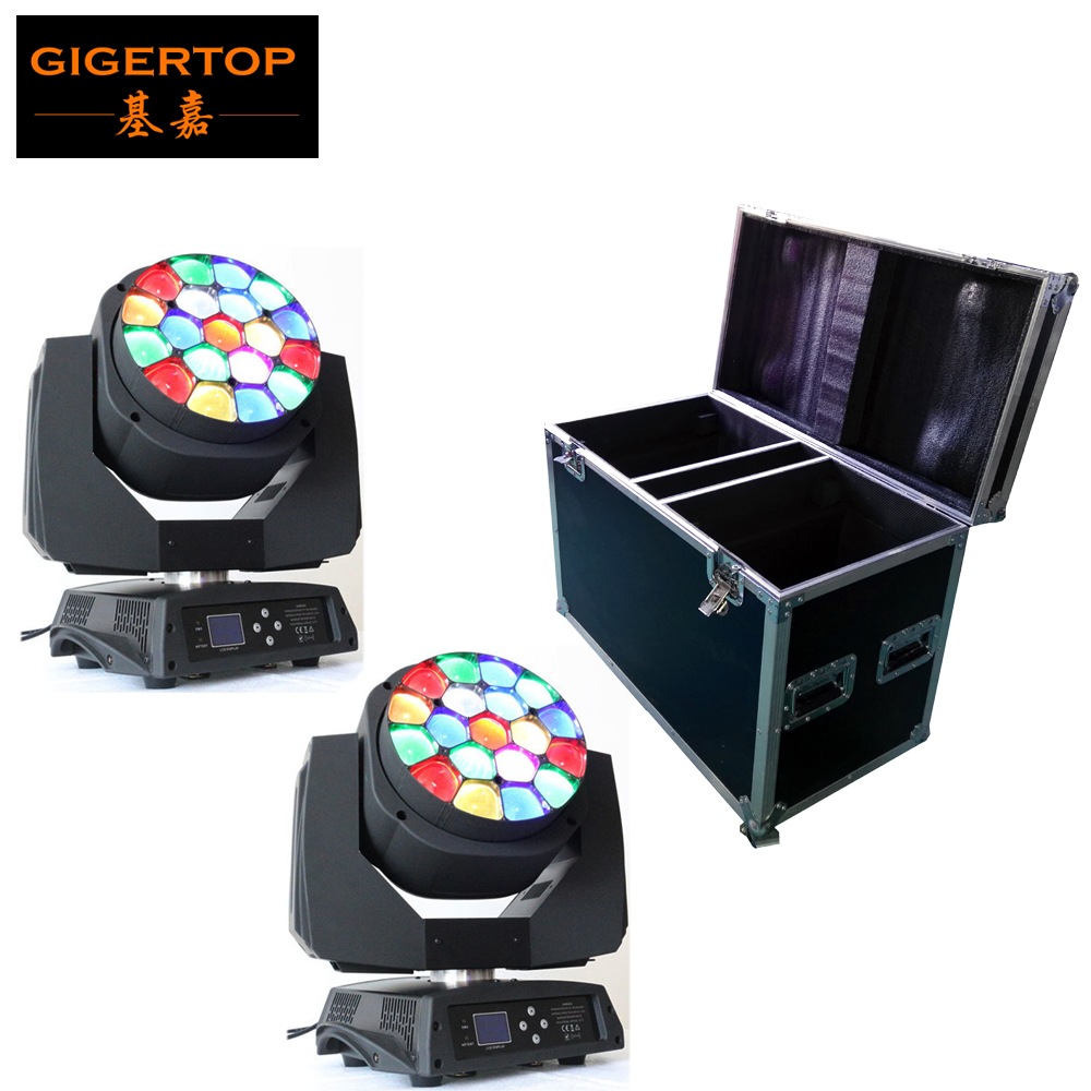 Flight Case 2in1 Packing with 2pcs lot Big Bee Eye led moving head zoom function 4