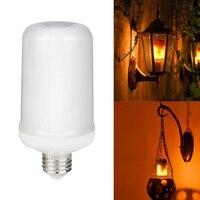 Flame Flickering LED Bulb Lamp AC85V 265V E27 E26 Simulation Fire Burning LED Bulbs Outdoor Decorative