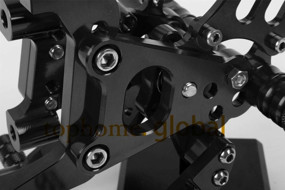 Мотоцикла Запчасти ЧПУ Rearsets подножки задний Набор для Ducati panigale 1199 s черный