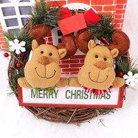 2sets Lot Christmas Snowman Deer Fabric Art Garland Cane Wreath Rattan Wreath Party Decoration Christmas Ornaments
