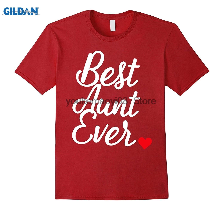 GILDAN custom printed cotton O neck T-shirt Best Aunt Ever Auntie Shirt Premium