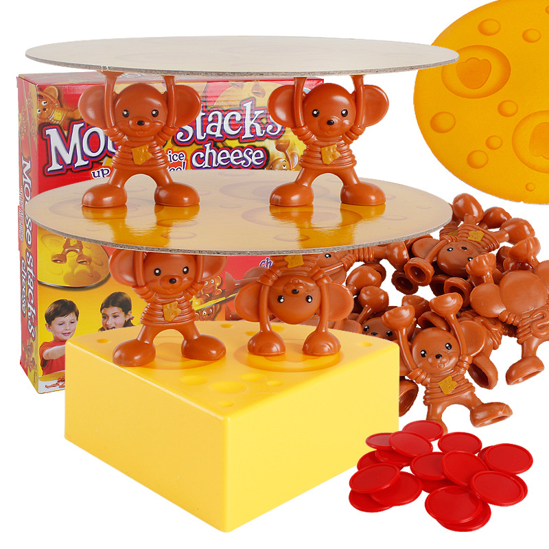 Développement de l'intelligence intérêt formation fou souris empilé gâteau fromage tour extrait Puzzle bureau interactif jeu jouets