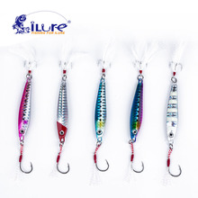 iLure 5pcs/lot 30g/40g/60g Metal Fishing Lure Spoon Jig Spinner Bait Tackle Hard Jigging Isca