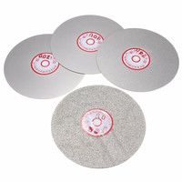 4pcs Set 6 Grit 600 800 1200 3000 Flat Lap Wheel Lapping Grinding Disc Tool Durable