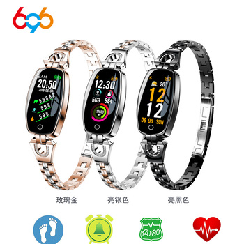 696 Smart H8 Bracelet Heart Rate Blood Pressure Pedometer Waterproof Fitness Activity Tracker H1 H2 Band - discount item  35% OFF Smart Electronics