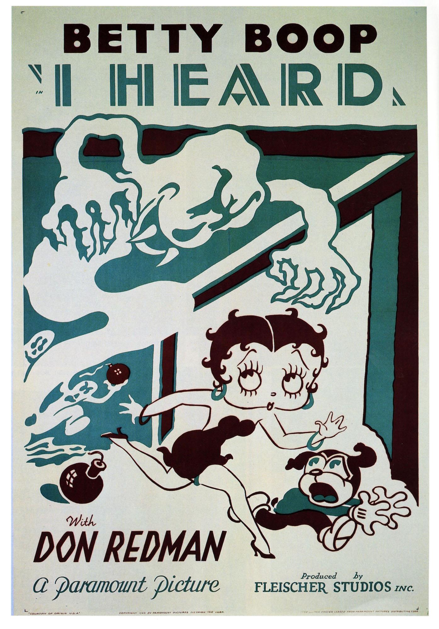 vintage werbung cartoon poster ich horte betty boop klassische leinwand gemalde vintage wand poster aufkleber home decor geschenk