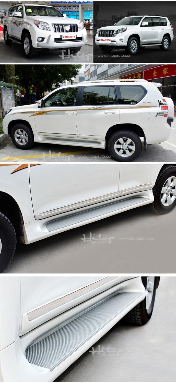 Hot side step nerf bar papan berjalan untuk Toyota Land Cruiser Prado - Suku cadang mobil - Foto 2