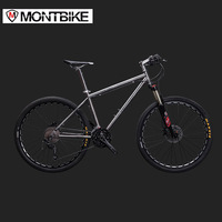 LAUXJACK Mountain Bike Titanium Frame 30 Speeds Shimano M610 Hydraulic Brakes 26 27 5 Wheels