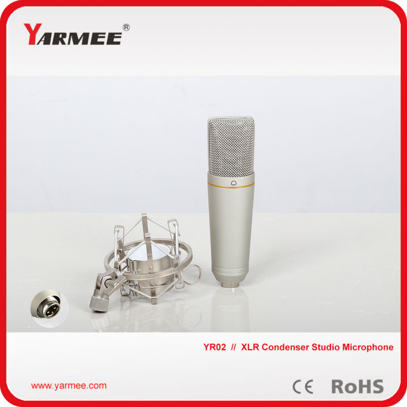 Wholesale professional uni-directional condenser recording microphone for studio YR02 best quality yarmee multi functional condenser studio recording microphone xlr mic yr01