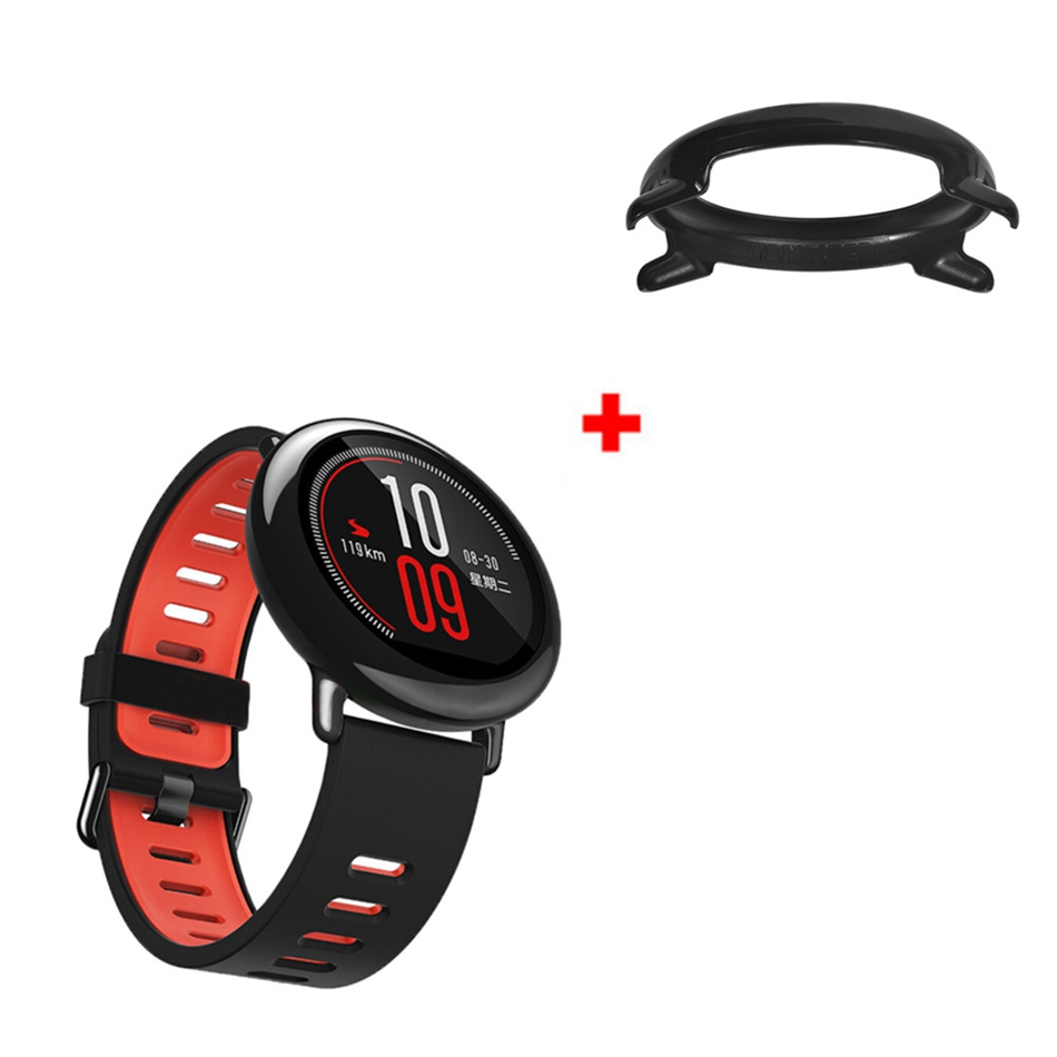 Xiaomi 22mm Double Color Silicone Watch Band Plus Colorful PC Watch Frame for Amazfit 2/2S Smart Wearable Accessories