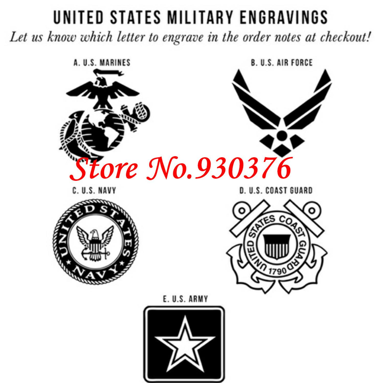 Hot 8mm Us Marines Military Symbol Logo Engraving Tungsten Wedding