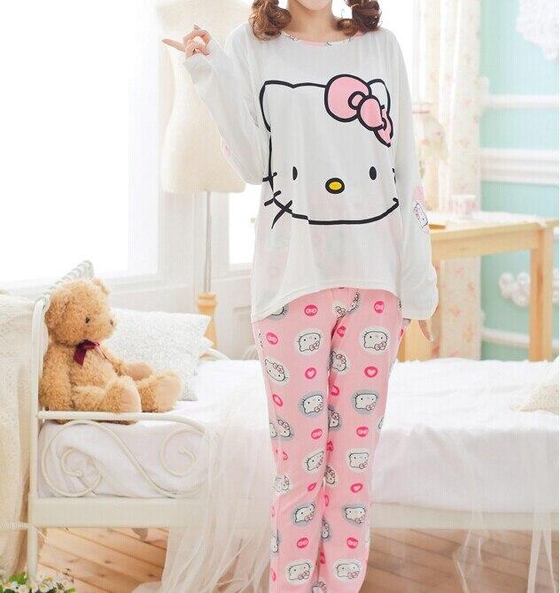 Aliexpress.com : Buy 2016 cute pajama sets with hello kitty ...