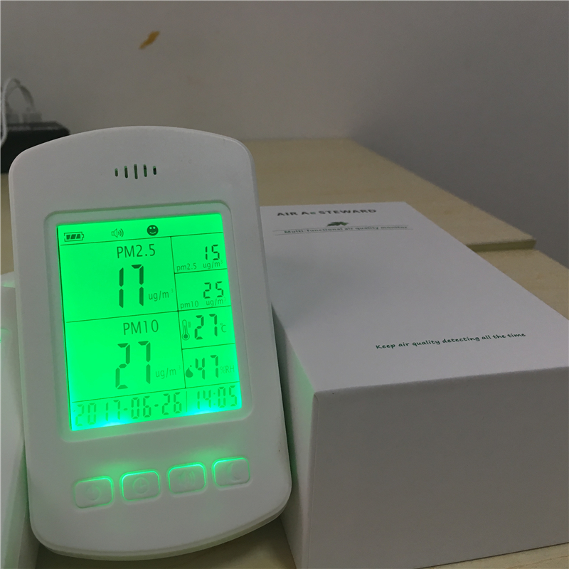 Household mini air quality detector PM2.5 air quality monitor VOC dust tester