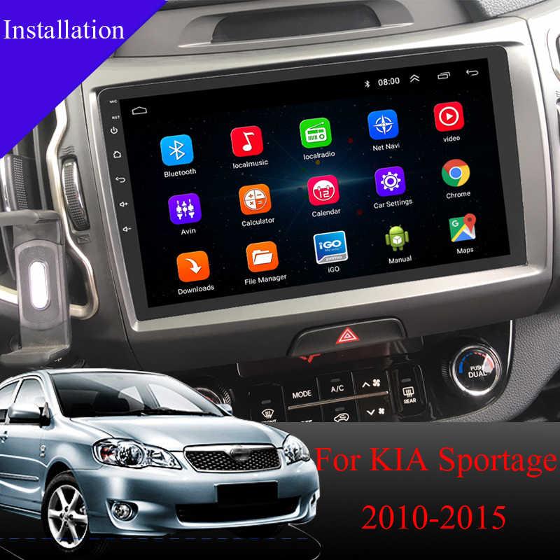 アンドロイド 8.1 車の dvd ナビゲーションと起亜の sportage 車ラジオマルチメディア gps ビデオプレーヤーステレオ IPS HD スクリーン 2010-2015