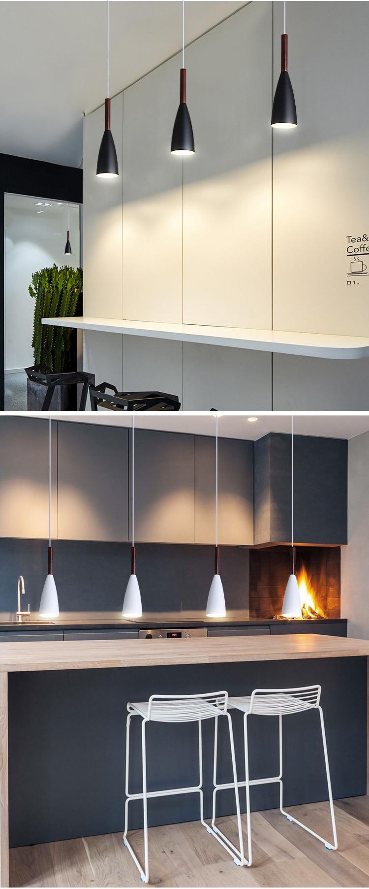 LuKLoy Modern Pendant Light Kitchen Hanging Lamp Dining Room Kitchen Lighting Fixture Loft Decor Wood Hanglamp luminaire Lustre (22)