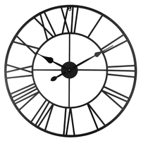 Vintage 80cm Wall Clock Vintage Wrought Metal Industrial Iron Rome Art Clock Watch Saat Classic Digital Clocks