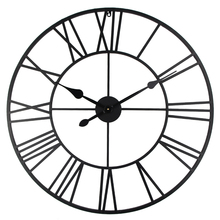 Vintage 80cm font b Wall b font font b Clock b font Vintage Wrought Metal Industrial