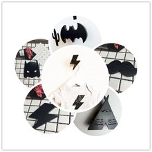 INS New black font b Tent b font Batman Tree Cross wooden Hooks Children s Room