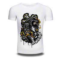 Brand Clothing Summer Fashion Short Sleeve T Shirt Men/Women 3D Print Shirts T-shirt White Men T-shirts Cartoon Top Tee AW005