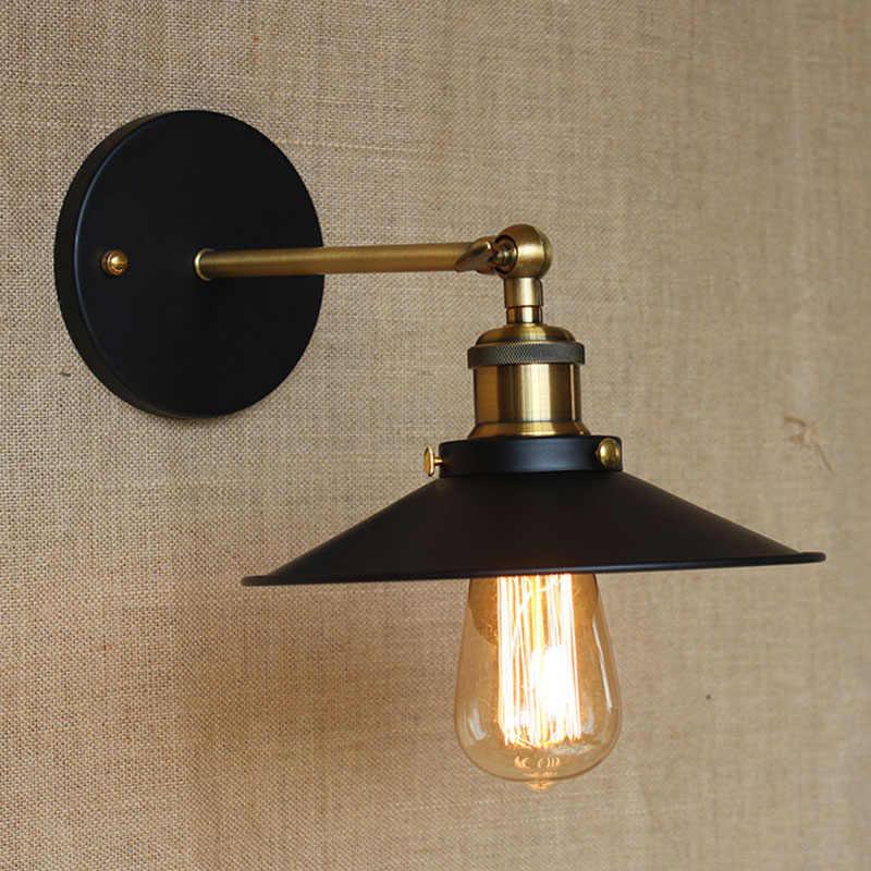 Ретро американский стиль пастырской контракт для ванной прикроватная Спальня фойе черный цвет освещения Настенные светильники Прихожая E27