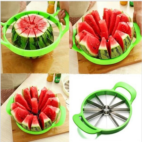 (Belső Dia.21cm) Görögdinnye vágó Kényelmes konyha főzés gyümölcs vágószerszámok Görögdinnye szeletelő gyümölcs vágó konyha (055)