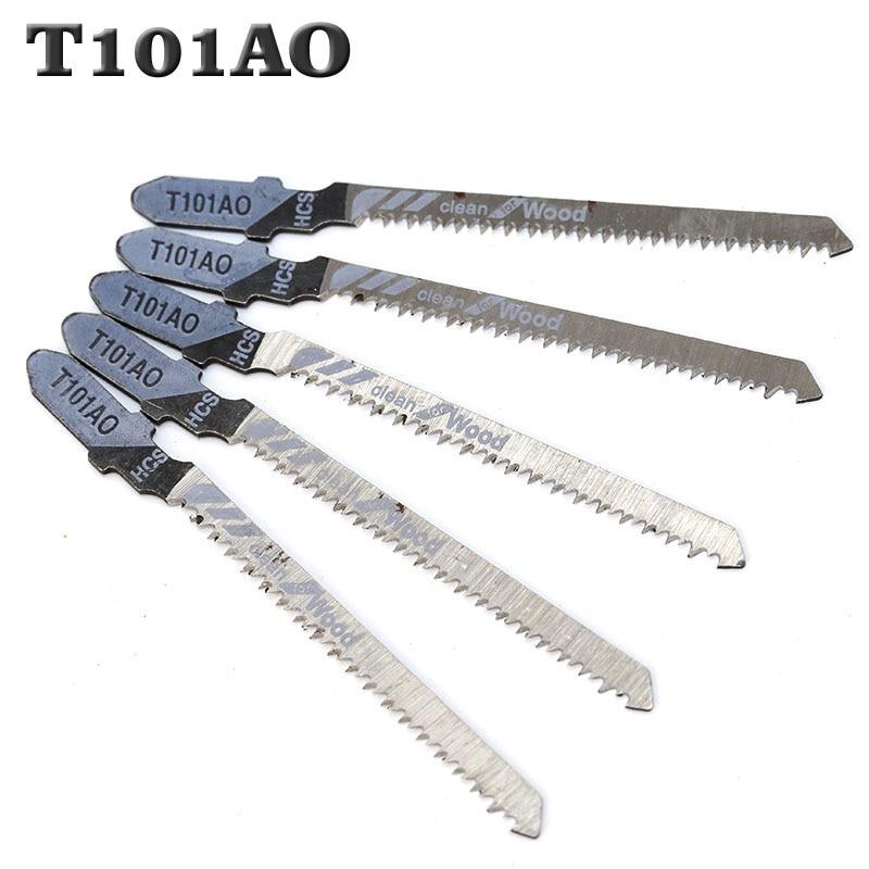 5pcs T101AO Jigsaw Blade Set High Quality Jig Saw Blades Clean Cut Wood Cutting Tool 1.5-15mm