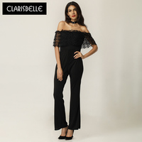 Women Jumpsuit Brand Clarisbelle Combinaison Femmen Fashion 2017 Hollow Out Backless Sexy Bodysuit For Women DR048