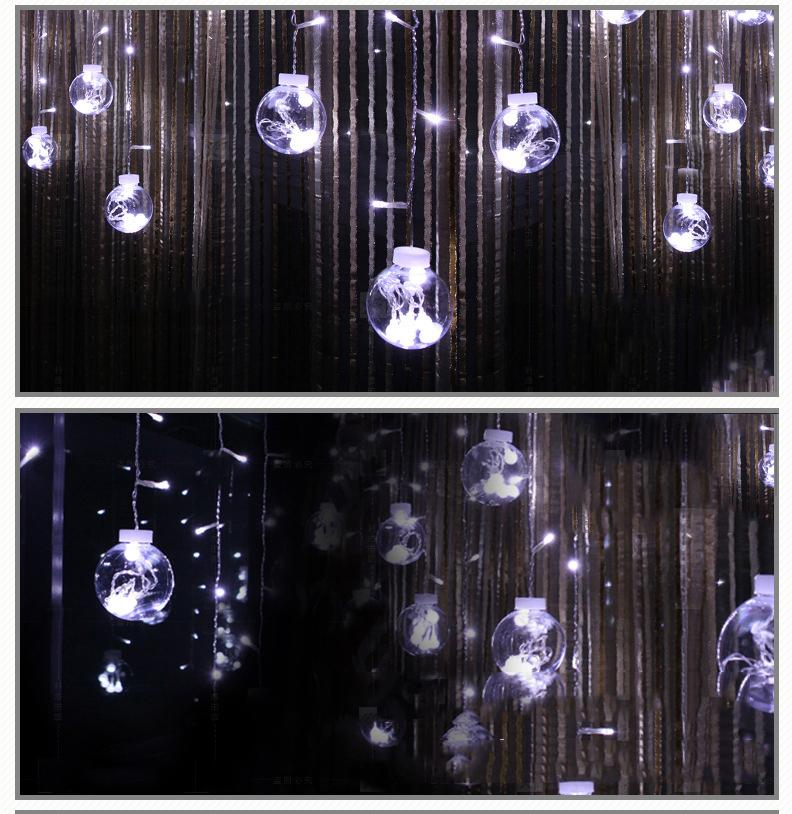 ФОТО Fairy Decorative Light 12 String 120 Beads for Wedding Birthday Home Window EU/US Plug 220V/110V Fluorescent String lamps
