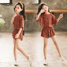 HANQIYAHULI Girls Clothing Sets 2019 Summer Comfortable Short Sleeve Two-piece Children Casual Fashion Clothes Suit S