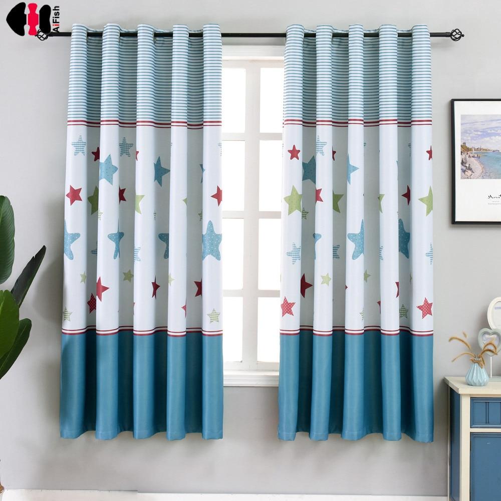 1 PCS W100xL200cm Short Curtains Blinds For Kids Children Boys Bedroom Decoration Small Window Drapes PC011C