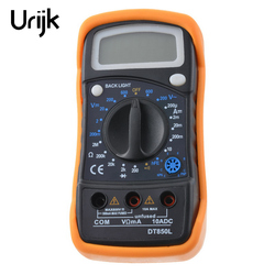 Multimetro Urijk DT850L Multímetros Portáteis Handheld Tester Digital Inteligente Com Chumbo Teste Display Lcd Display Lcd de Grandes Dimensões