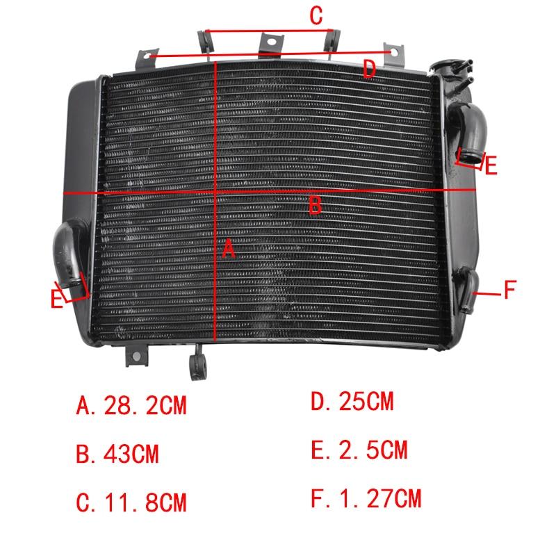 LOPOR For Kawasaki NINJA ZX600 ZX6R ZX 6R ZX636 2005 2006 Motorcycle Parts Aluminium Cooling Radiator