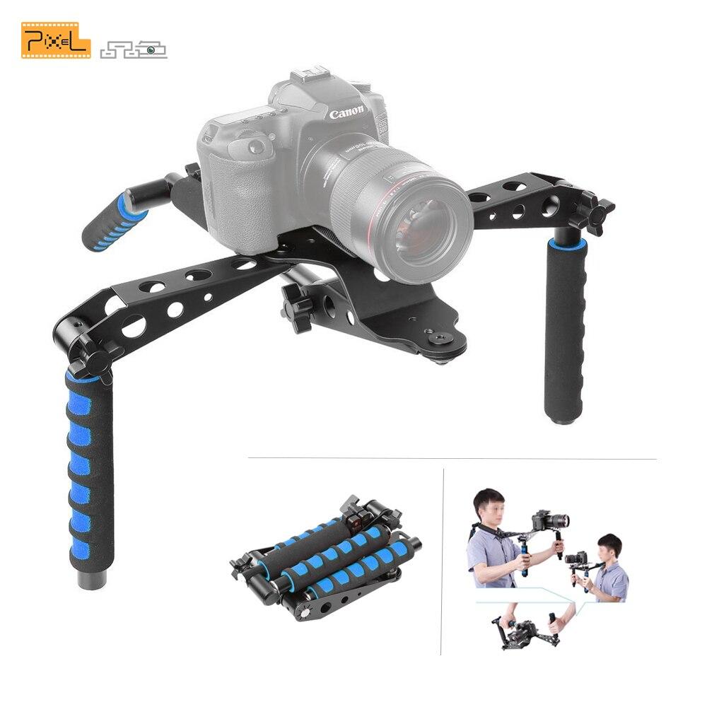 Pixel Premium DSLR Rig Film Kit Épaule Support Photo Accessoires de Studio pour Canon Nikon DSLR Vidéo Caméscope Caméra DV