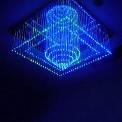Nowa nowoczesna kryształowa lampa światłowodowa żyrandol lampa wisząca wiszące lampy sufitowe z źródłem światła LED hotele dekoracji w Oświetlenie światłowodowe od Lampy i oświetlenie na