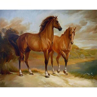 Frameless Horse Animals Diy Digital Oil Painting By Numbers Modern Wall Art Painting Calligraphy Hand Painted