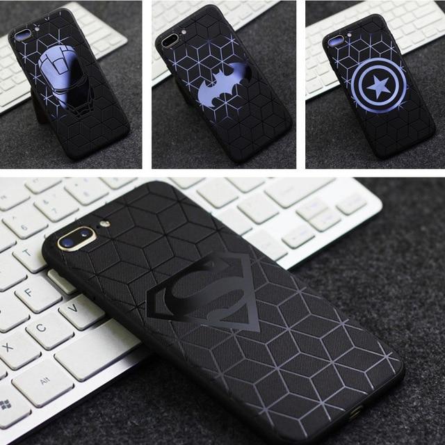 3D Cảm Ứng Dành Cho IPhone X 8 7 Plus 6 S Silicone Mềm Mại Giảm Mẫu Ốp Lưng Điện thoại Iphone 7 6 S Plus Ốp Lưng Siêu Nhân BatMan