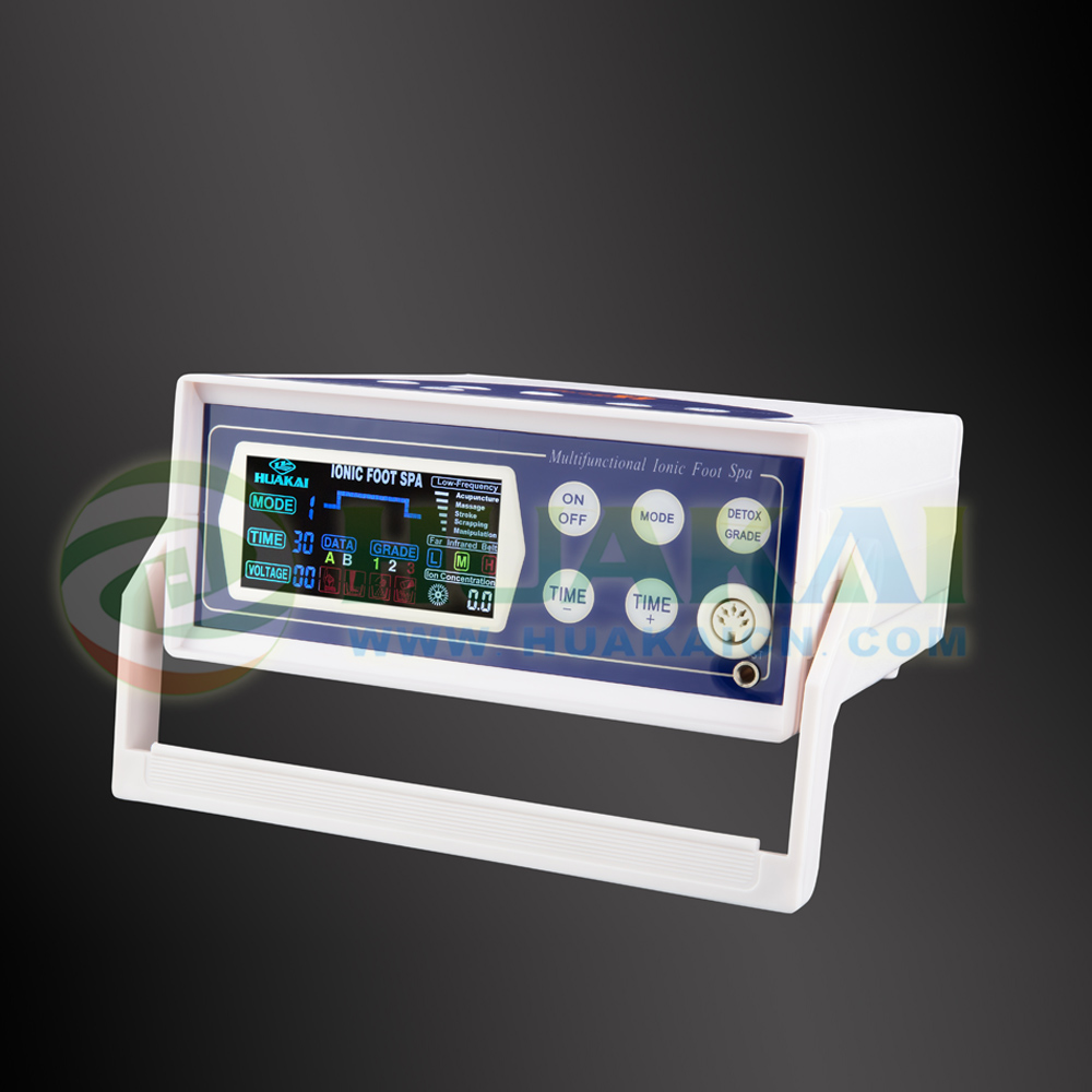 Digital LCD Display Detox Ion Ionic Aqua Foot Bath Spa high quality colorful lcd display ion detox foot spa 8802a