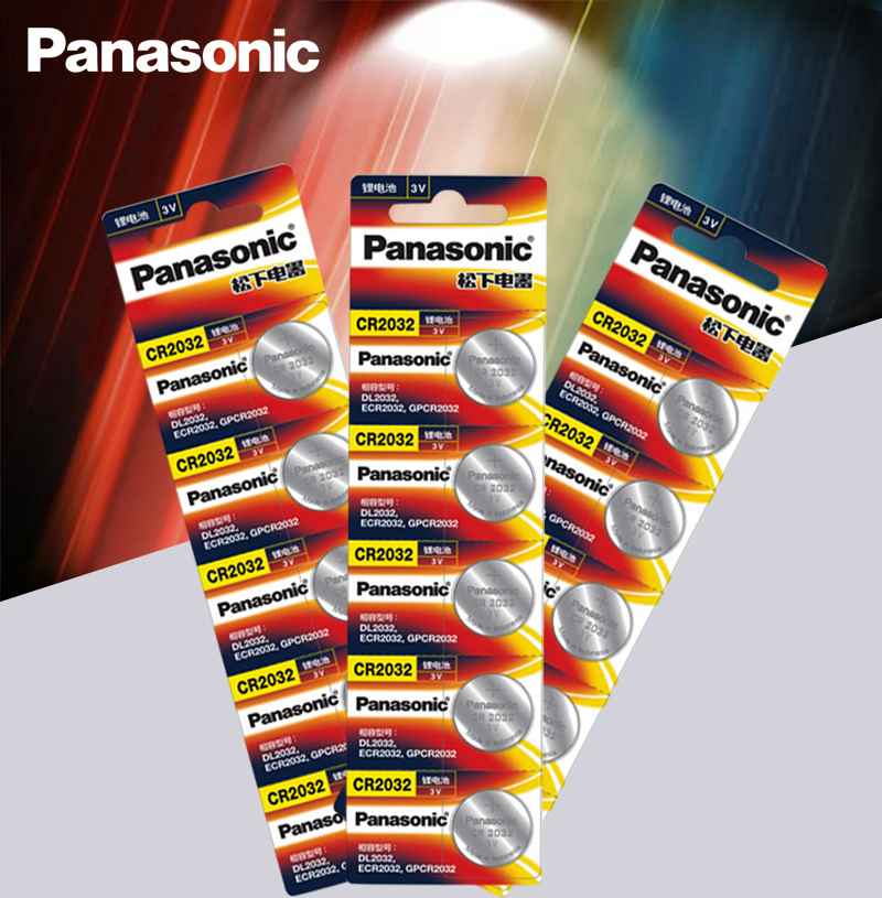 <font><b>Panasonic</b></font> Original 15pcs/lot cr <font><b>2032</b></font> Button Cell Batteries 3V Coin Lithium Battery For Watch Remote Control Calculator cr2032 image