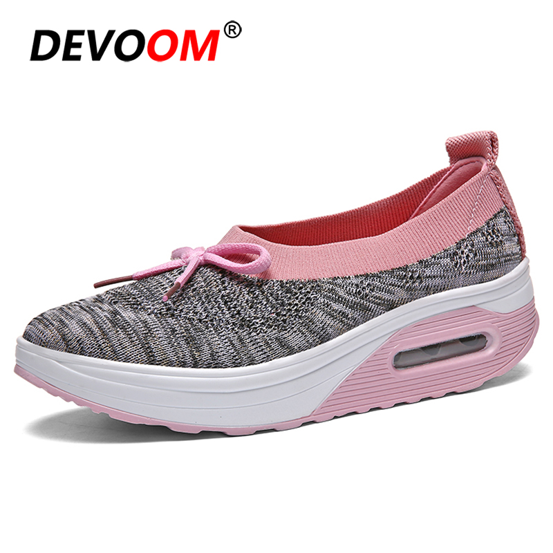 Comfort Shoes for <font><b>Women</b></font> Shose New Summer Woman Shoes Fashion Slip on Sneakers Air Cushion Flat Shoes <font><b>Women</b></font> Nurse Mother Antiskid image