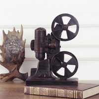 Continental Retro Old projector model resin crafts decorative decoration window display restaurant Home Furnishing tin