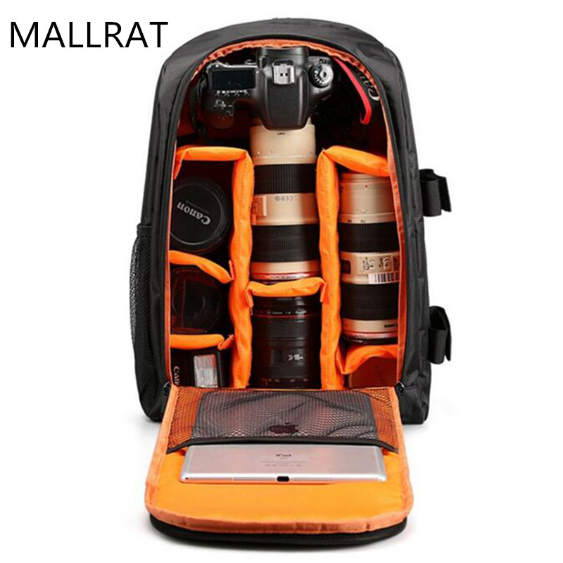 ФОТО MALLRAT Camera Bag DSLR Backpack Notebook Video Photo Bags for Camera d3200 d3100 d5200 Small Compact Camera Backpack Large Size