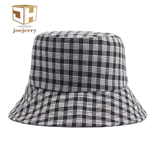 oejerry vantage Women Plaid Bucket Hat Flat Base Cap Fishing Foldable Sun  Hat For Summer Spring dd9a1a3fcfe
