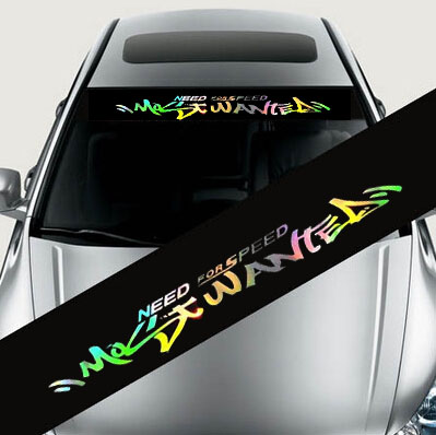 laser reflective letters auto car front window windshield decal stickers for bmw audi ford focus mazda