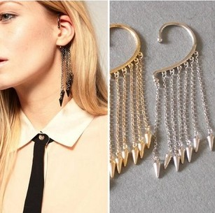 MX0456 Vintage Jewelry Exquisite Trendy Earrings Modern Beautiful Square Party Stud for WomenPersonalized tassel Triang