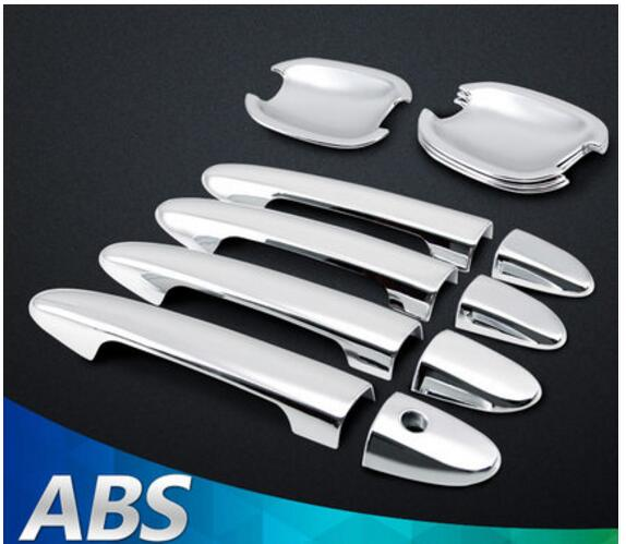 Car styling high quality car ABS Chrome Door Handle Covers trim Door bowl Fit For X-Trail X trail T31 2008 - 2013 Accessories