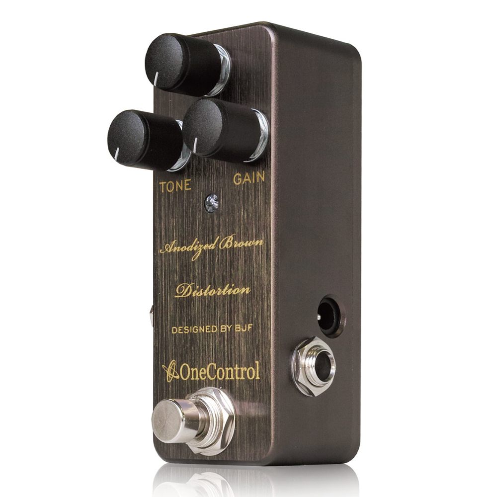 Japan One Control BJF Anodized Brown Distortion Guitar Effects Pedal japan one control bjf little copper chorus guitar effect pedal