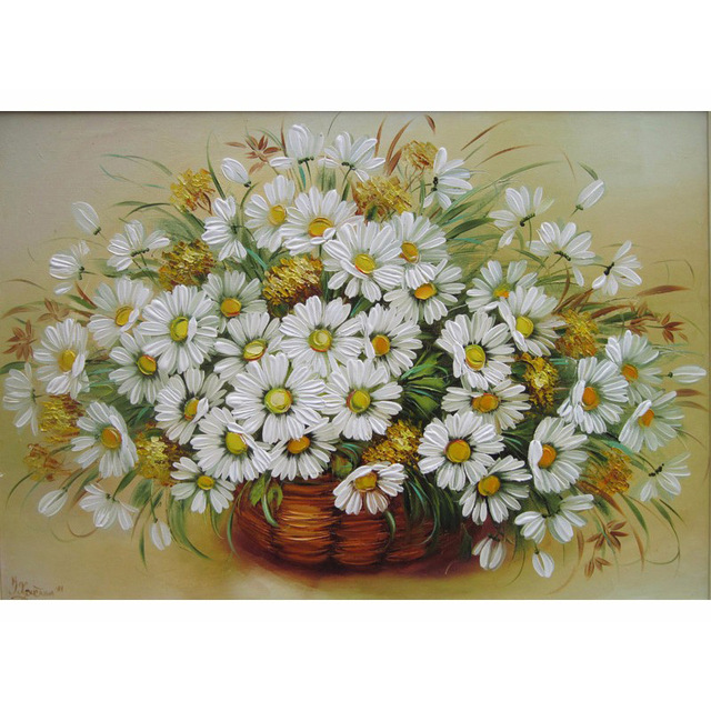 Daisy Flower DIY Oil Painting Painting By Numbers Acrylic Paint On Canvas Home  Decor For Living