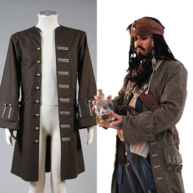 Piratas del Caribe Jack Sparrow chaqueta abrigo traje conjunto completo  chaqueta solo hecho a medida 9a44531bae16