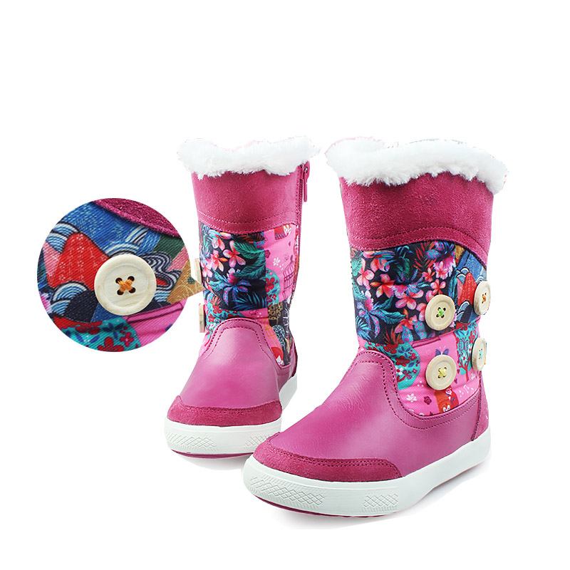 Kids Girls Fashion Winter Snow Boots Children Snow Boots With Plush Kids Warm Casual Boots Children Cotton Shoes Boots for Girls
