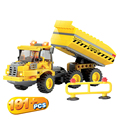 Kazi 191PCS Engineering Truck Car 8043 Building Blocks Bricks Construction Enlighten Toys For Children Gift